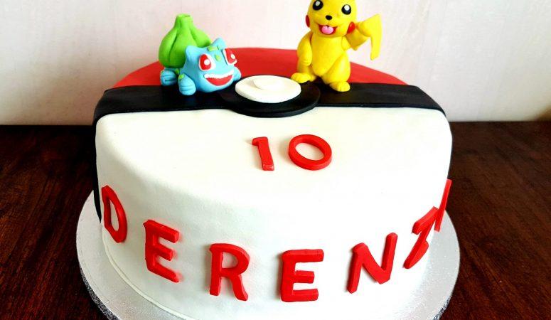 Pokémon verjaardagstaart